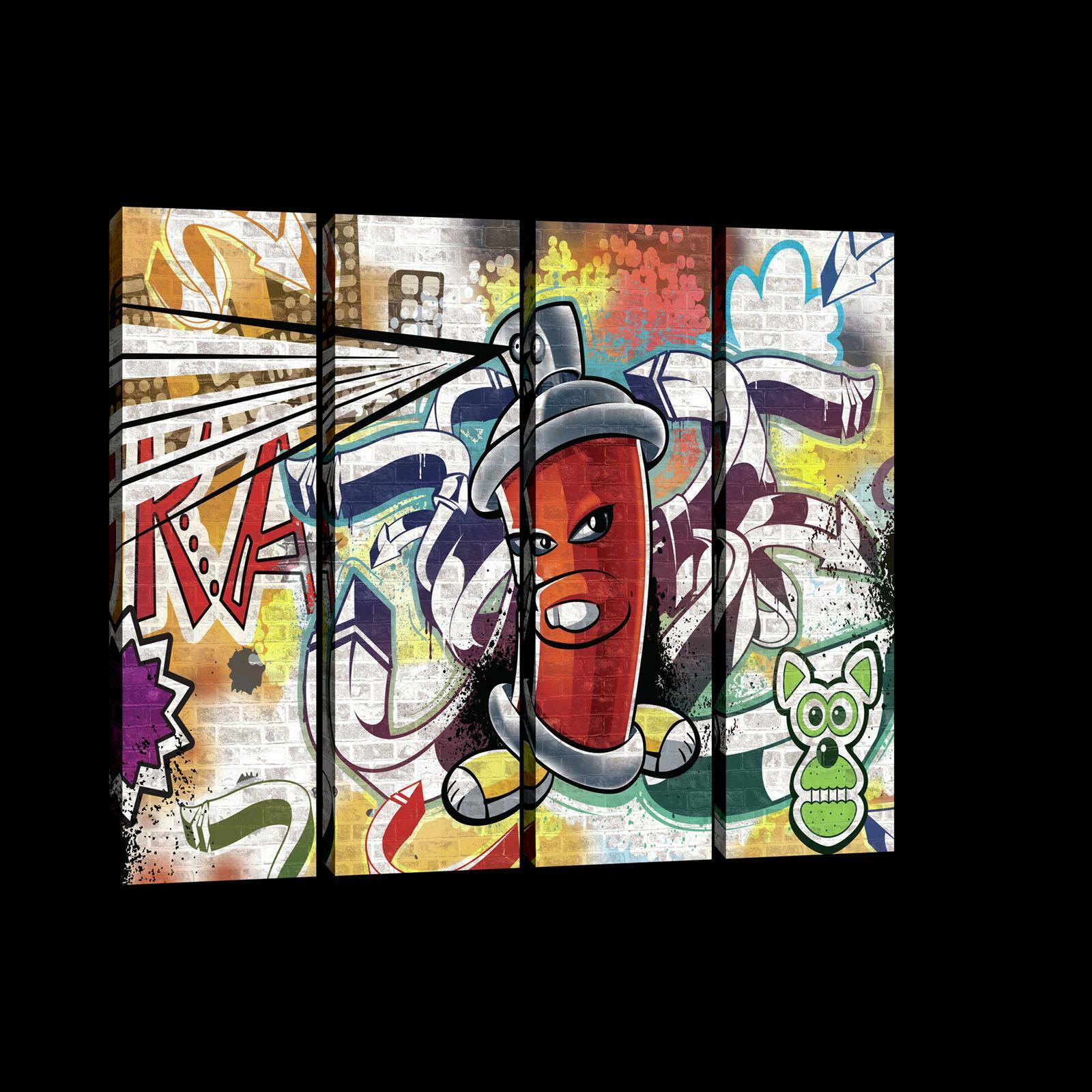 La fresque Toile Art Imprimé 20212_ps7-1 CANVAS PICTURE Print Rouge Graffiti