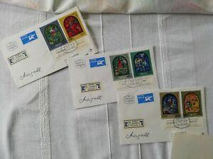 Israel 1973 drei FDC gelaufen nach Zürich (135) - Ahrensburg, Deutschland - Israel 1973 drei FDC gelaufen nach Zürich (135) - Ahrensburg, Deutschland