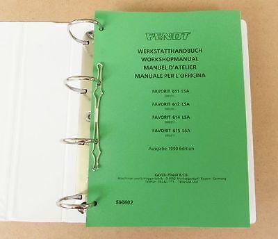 Analytisch Fendt Favorit 611 Lsa 612 Lsa 6124 Lsa 615 Lsa Werkstatthandbuch 1990