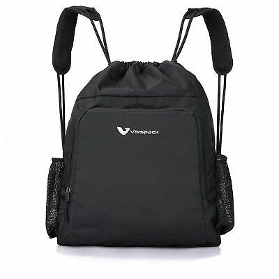Drawstring Backpack Waterproof Gym Bag PE Duffle School Kids Boys Girls Train Sack