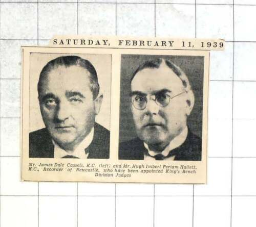 1939 King's Bench Judges, Jt Cassels, Mr Hallett