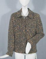 Geiger Austria Boiled Wool Jacket (coat) 8 E 38 Animal Print