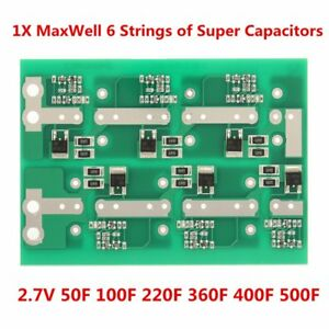 Details about 1Pc MaxWell 6 string 2 7V 350F Super Capacitor Balancing  Protection Board