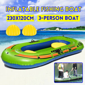 US-Pro-Inflatable-3-Person-Kayak-Rafting-Swim-Fishing-Raft-River-Lake-Boat-Set