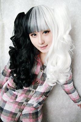 HOT Dangan Ronpa Monobear Monokuma Black&White Bear Cosplay wig +claws A pair