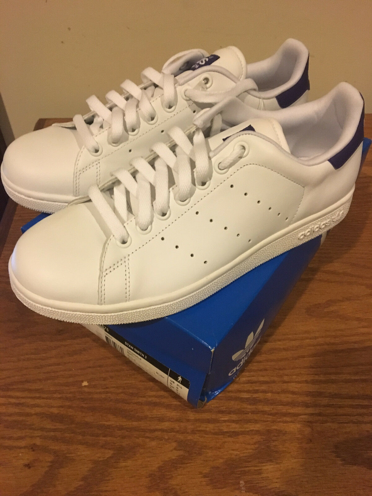 Adidas Originals Stan Smith 2 Purple White G21875 Size 8.5