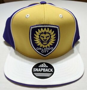brand new 25ec6 548c8 Image is loading Orlando-City-Soccer-Adidas-MLS-Snapback-Cap-Hat-