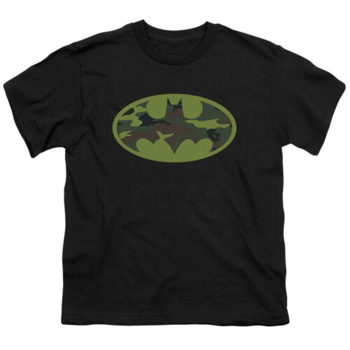 Batman DC Comics Superhero Camoflauge Bat Shield Logo Big Boys T-Shirt Tee