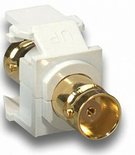 New Retail Packaged White Leviton Quickport BNC Jack 831-40832-W