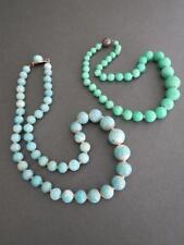 Vintage Art Deco Czech Peking Glass Necklaces Lot