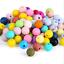 50pcs//pack Silicone Baby Teething Beads Safe Nursing Chewing Round Beads