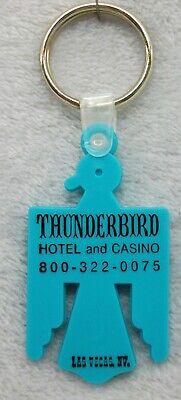 Vintage Thunderbird Casino Hotel Las Vegas Nevada keychain ring fob LOOK