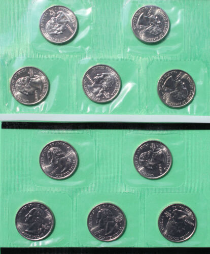 2003 P and D State Quarter 10 Coins from US Mint Set BU Statehood Cello 25c