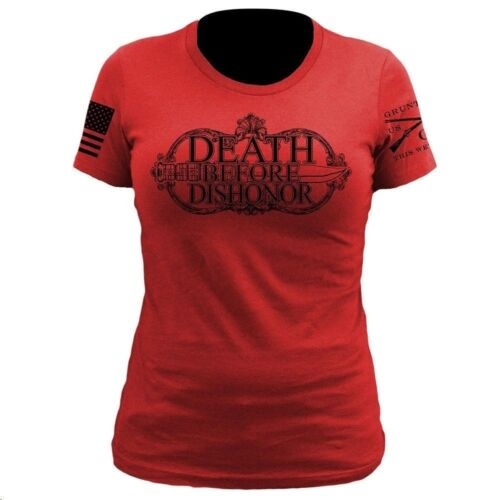 Grunt Style Women/'s Tee Shirt Death Before Dishonor T-Shirt