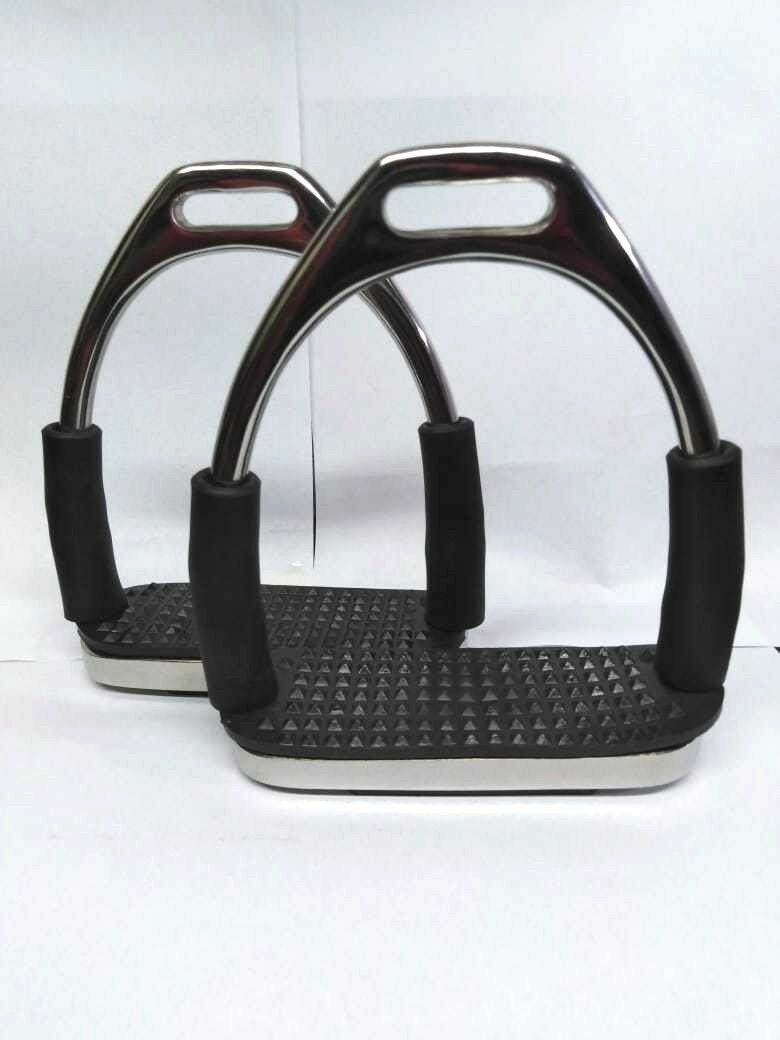STIRRUPS HORSE RIDING STAINLESS STEEL LIGHT WEIGHT PAIR  MOVE ABLE.