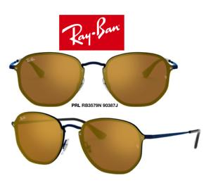 dcede677d Image is loading Ray-Ban-RB3579N-90387J-Sunglasses-Blaze-Hexagonal-Blue-