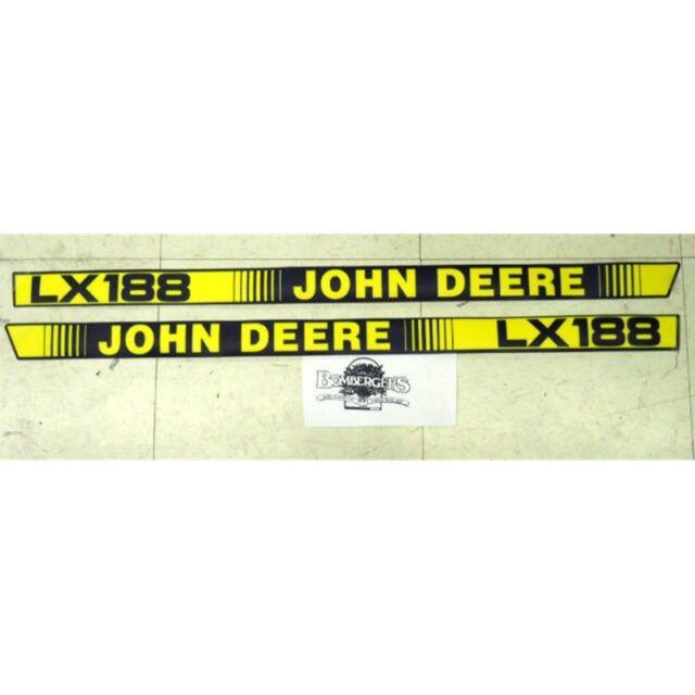 John Deere LX188 hood trim decal set for LX188 tractors   M116262  M116263