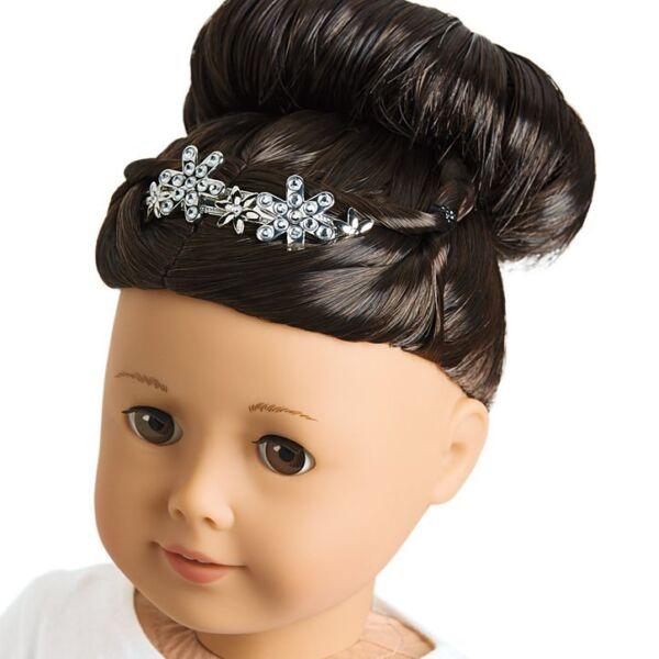 Actif ???? American Girl Doll Sweet Coiffures Set Nouveau Tiara Serre-tête Noeud Grace Objets ???? Belle En Couleur