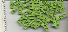 LEGO x 50 Lime Plate, Modified 1 x 2 with 1 Stud (Jumper) NEW