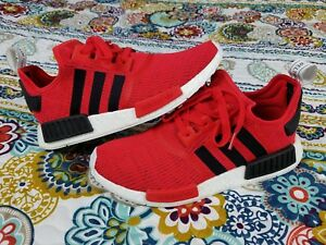 7e9ba857a Adidas NMD R1 Core Red sz 10 Running Shoes BB2885 Black White 2017 ...