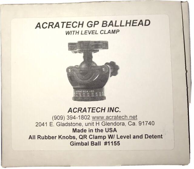 Acratech GP Ballhead w/ QR Clamp, Level & Detent Gimbal Ball #115 NEW IN BOX