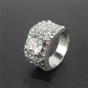 18K-Men-White-Gold-Ring-Plated-ICED-OUT-Simulated-Lab-Engagement-Diamond-Ring