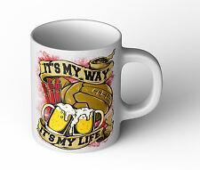 IT'S MY WAY IT'S MY LIFE Tasse Fun Cup neu Hooligan Fußball Ultra Bengalo Becher