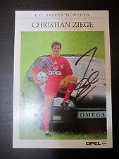1230  FC Bayern München Christian Ziege DFB original signierte Autogrammkarte