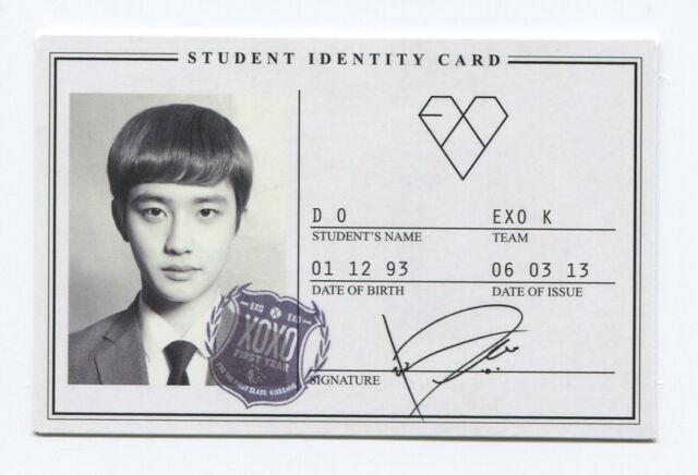 EXO - XOXO (Kiss Ver) OFFICIAL PHOTOCARD IDENTITY CARD [D.O. Version]