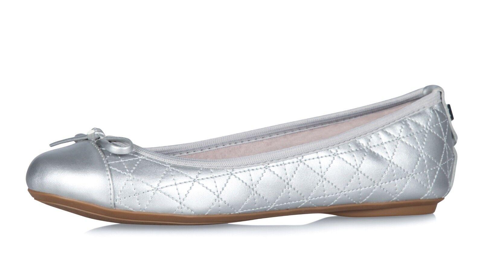 27a878ea43f4e Twists NEW Olivia silver metallic ballet flat shoes sizes 4-8 ...