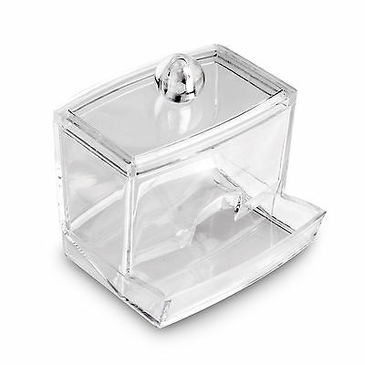 Makeup Cosmetic Case Clear Q-tip Storage Holder Cotton Pad Swab Box Organizer MT