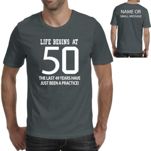 50 years 50th Birthday Gift Printed T-Shirt for him Dad Grandad