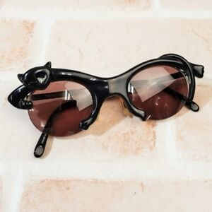 Yogi-Yamamoto-cat-frame-sunglasses-made-in-Japan-1990s-rare-from-JAPAN-F-S