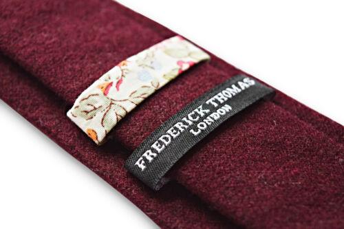 Rouge Foncé Ft3330 Frederick Thomas Hommes 100/% Laine Cravate en Uni Marron