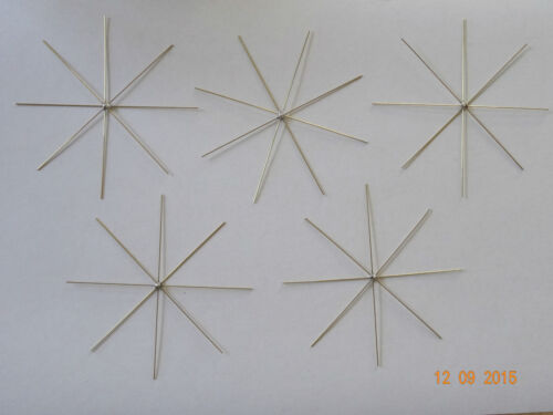 5 Fil étoiles 0,8mm perles étoiles-fil-Perles-étoiles 8 Strahlig 10 cm