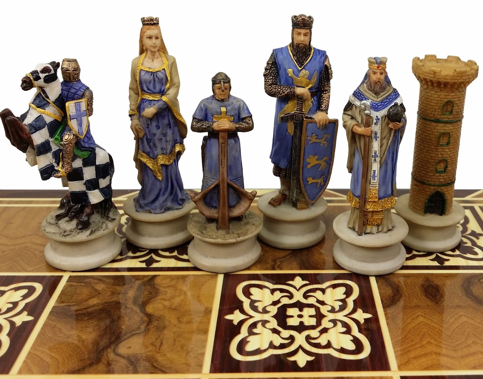 Medieval Times Crusades KING RIGHART THE LIONHEART CHESS Uomo SET - NO BOARD