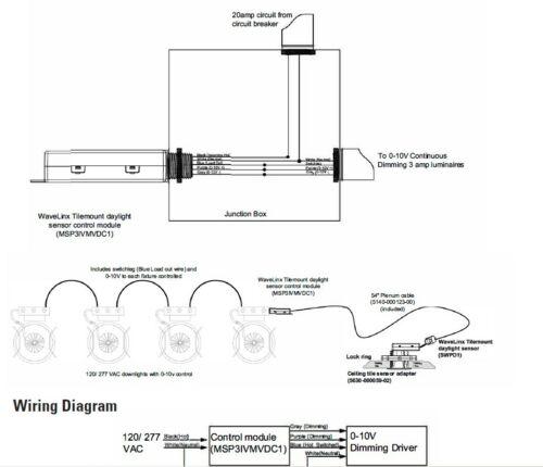 Eaton MSP3IVMVDC1 new in box WaveLinx Tilemount daylight sensor