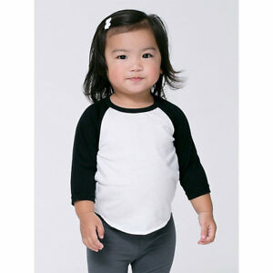 6265b92e8 American Apparel Infant Poly-Cotton 3/4 Sleeve raglan baseball ...