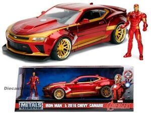 Jada-1-24-paseos-en-2016-Chevy-Camaro-Ss-Hollywood-Iron-Man-Figure-99724-Vengadores