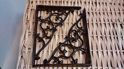 6 Cast iron Antique Style SM Leaves /& Vine Garden Shelf Brackets