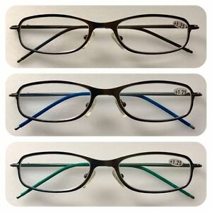 a691160df3 Image is loading A80-High-Quality-Reading-Glasses-Spring-Hinge-Stainless-