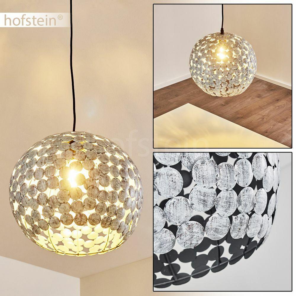 Kugel Hänge Pendel Leuchte Lichteffekt Wohn Schlaf Ess Zimmer Lampe grau antik