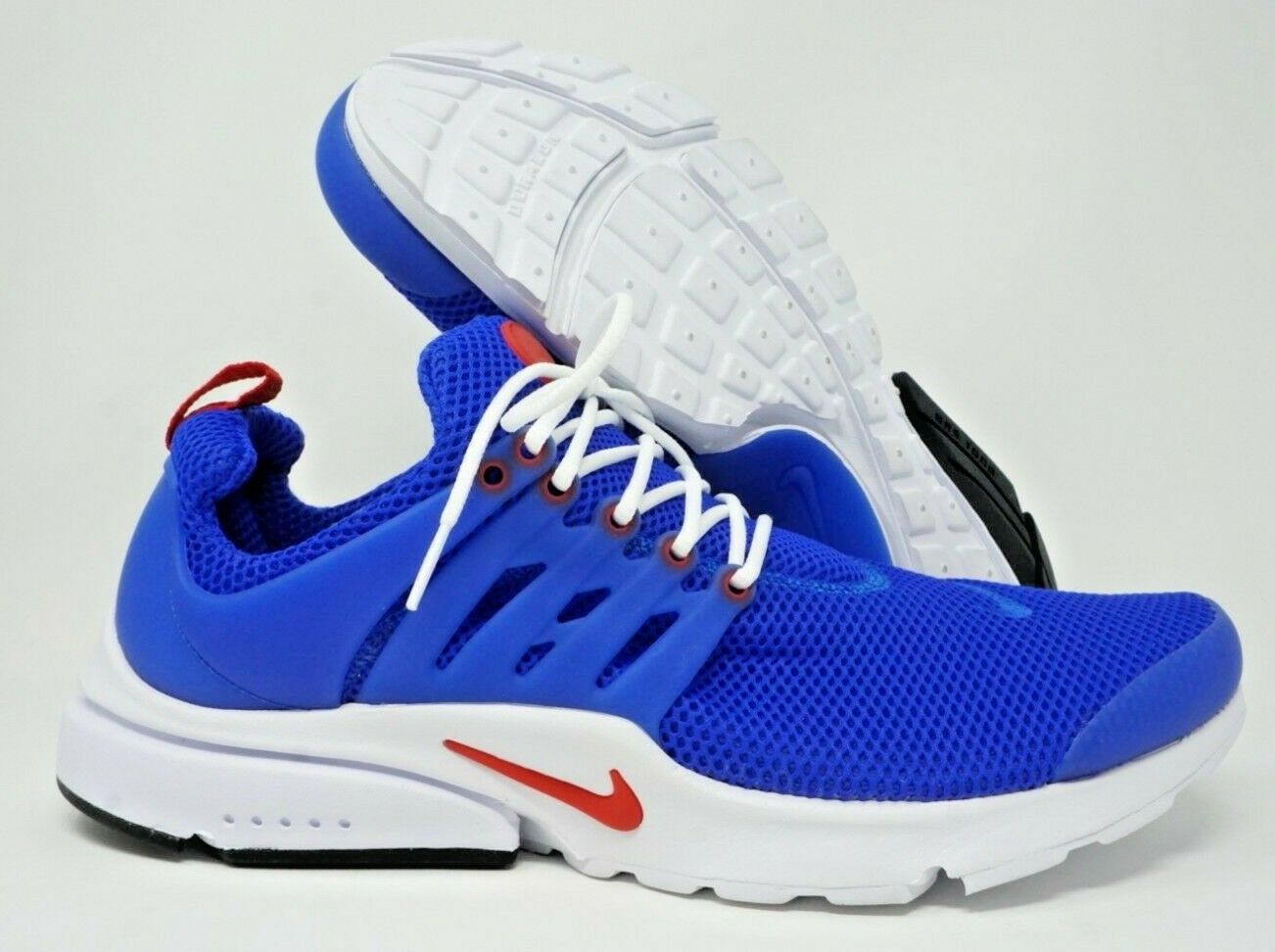 Nike Air Presto Essentials Mens Running shoes White blueee Red Size 13