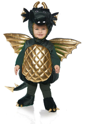 Dragon Boys Toddler Green Belly Baby Plush Mythical Creature Costume