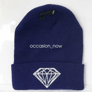 UNISEX-HAT-MENS-WOMANS-KNIT-KNITTED-BEANIE-RETRO-COOL-DIAMOND-BLUE