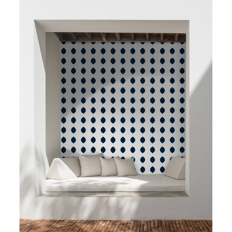 Geometric simple pattern minimalistic regular shapes  Non-Woven wallpaper Mural