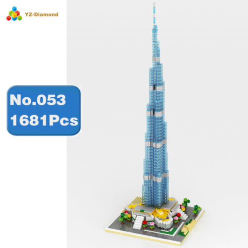Baukästen Burj Khalifa Gebäude Mini Schloss Modell Spielzeug Geschenk DIY 944PCS