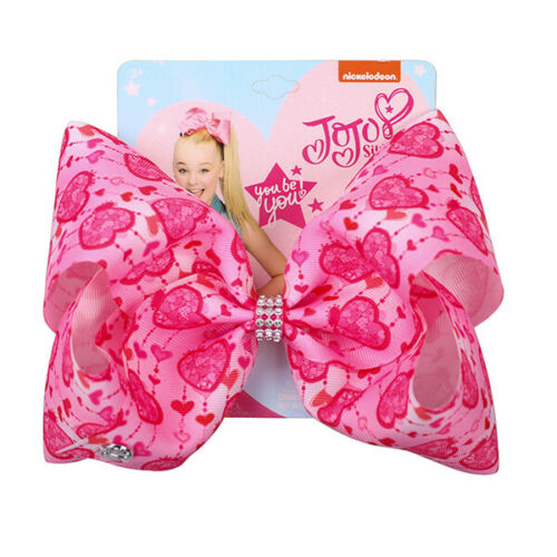 8 inch JOJO SIWA BOWS 2019 New Colorful LOVE Series Girl Kids Hair Bow Bowknot