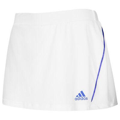 adidas Damen Tennis Rock Squash Skirt Tennisrock weiß Short Fitness S00385 neu