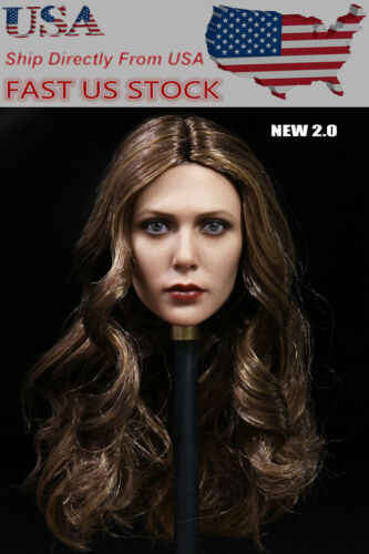 16 Elizabeth Olsen Scarlet Witch Long Curl Head FFemale Figure Body USA Stock